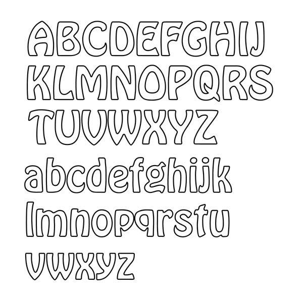 Outline Fonts  Letter Outline Font Display  Typography