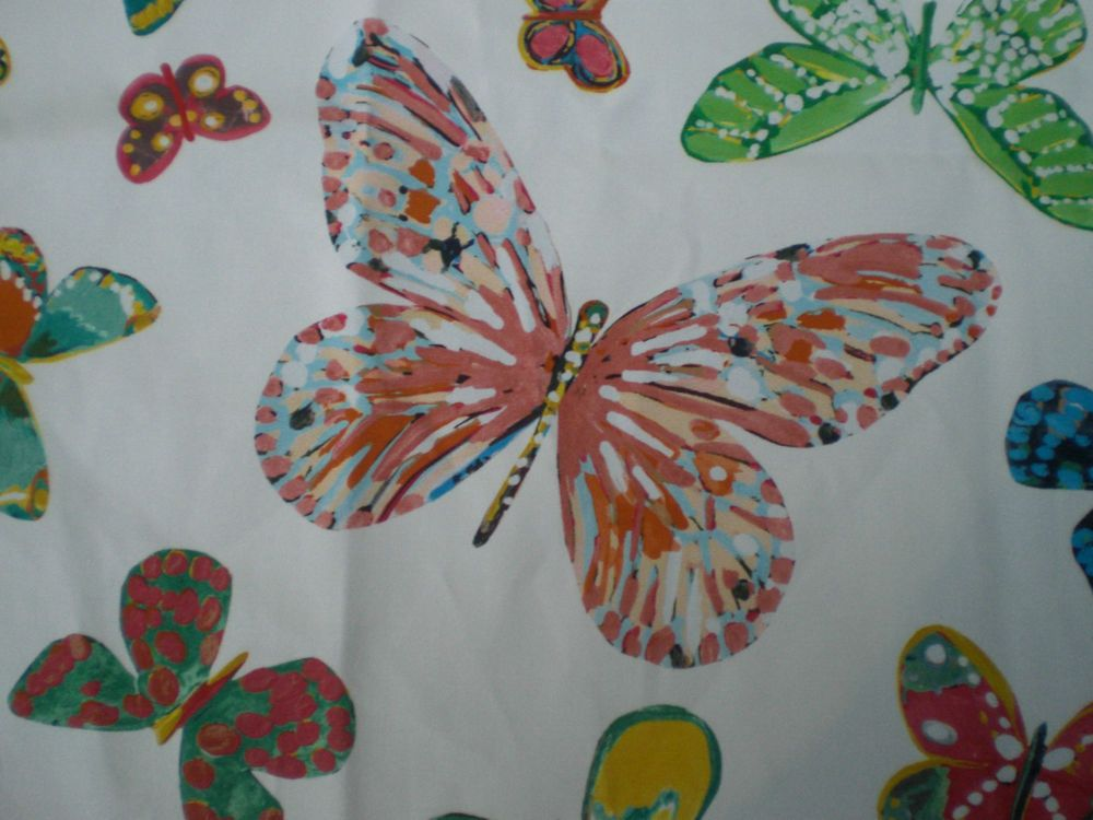 """SCHUMACHER CRAFT FABRIC REMNANT """"BUTTERFLY"""" 52 X 66 CM COTTON BLEND in Crafts, Sewing & Fabric, Fabric 