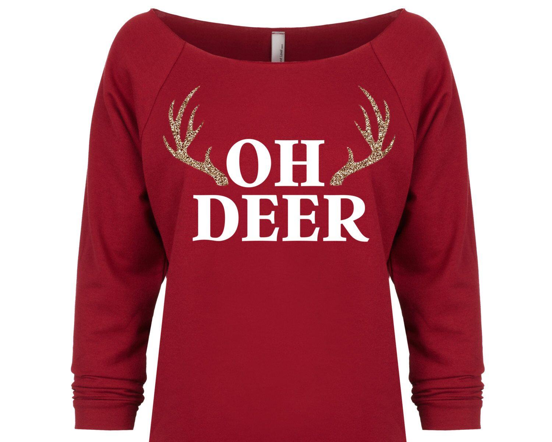 Oh Deer Christmas Shirt. Funny Christmas Sweater. Oh Deer Shirt ...