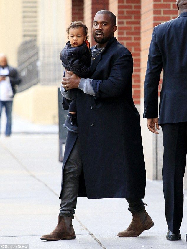 Kanye West Is On Daddy Duty In Nyc Kanye West Style Kanye West Mens Fashion Blog