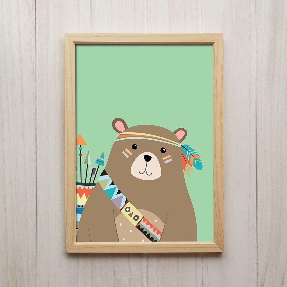 Details zu Bild Bär Kunstdruck A4 Tier Poster Niedliche ...