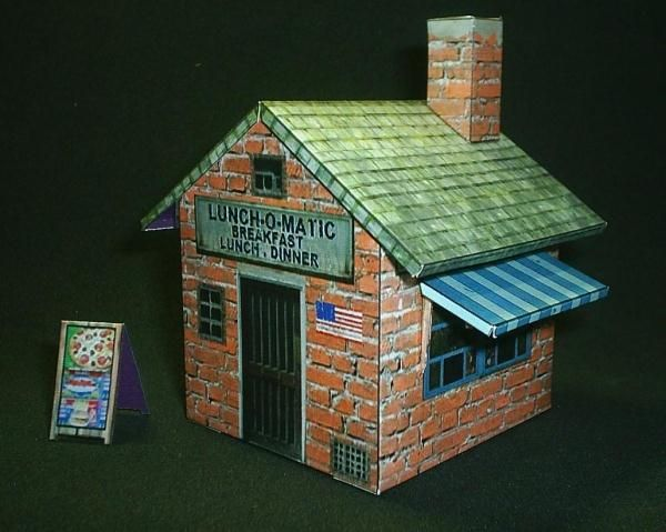 Lunch O Matic Restaurant Paper Model Here A Little Just