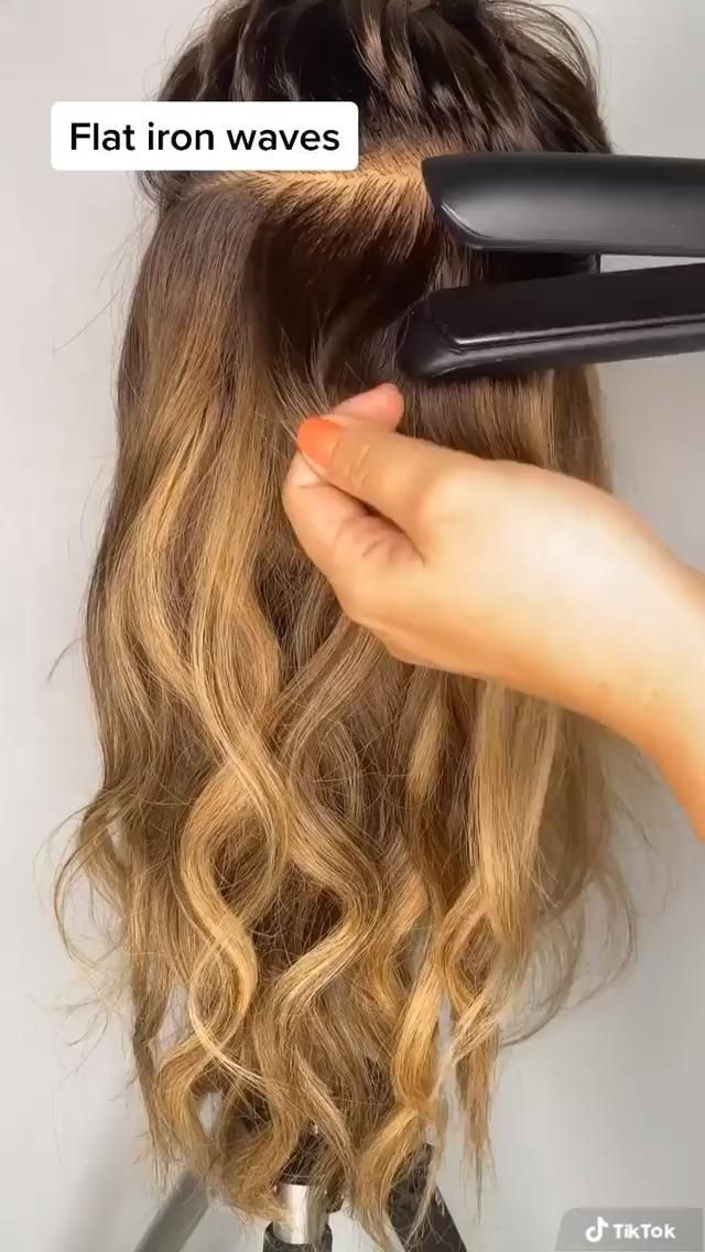 How To: Waves mit dem Glätteisen