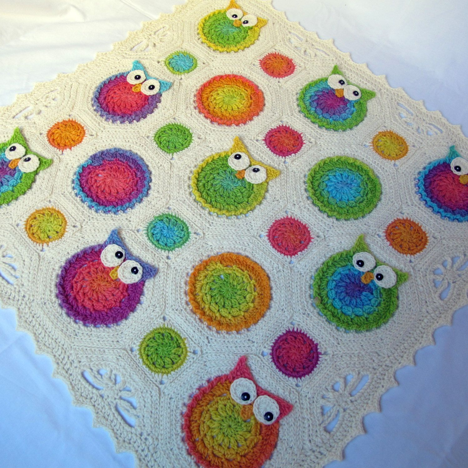 Crochet Pattern Owl Obsession A Colorful Owl By Thehatandi 600