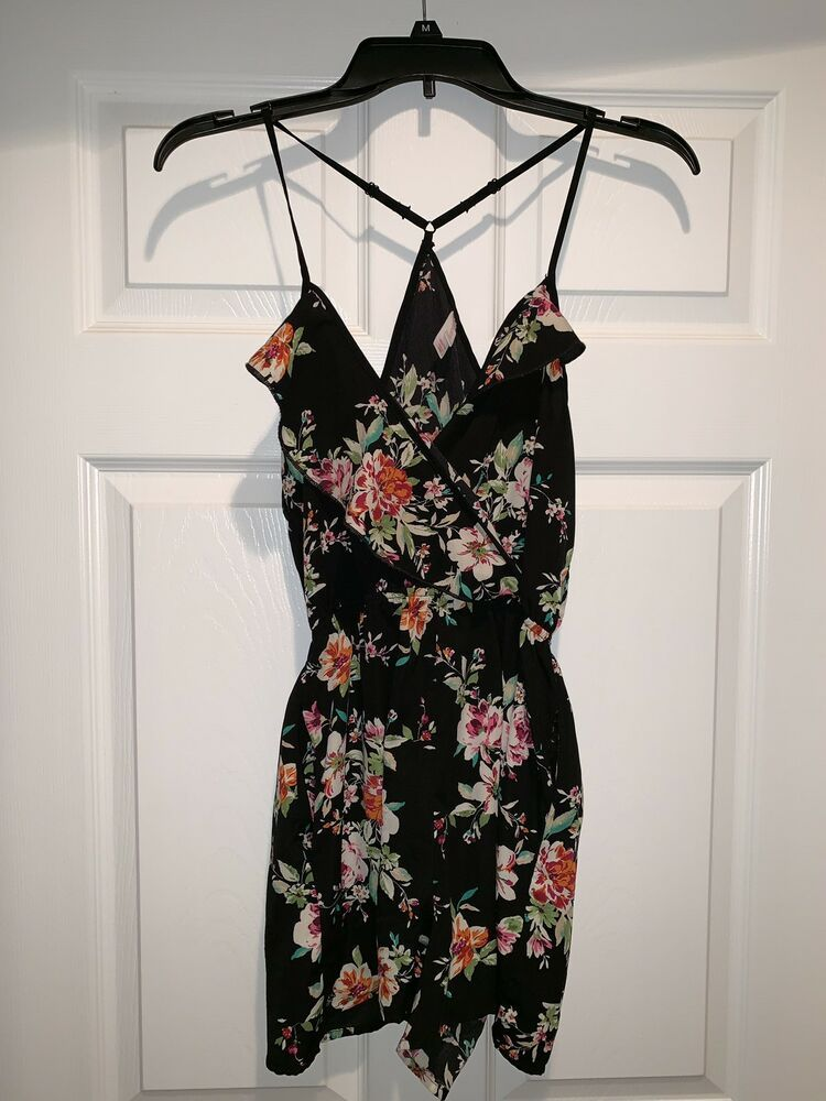 ec9b04fc6b13 Xhilaration Black Floral Romper Size XS  fashion  clothing  shoes   accessories  womensclothing  jumpsuitsrompers (ebay link)