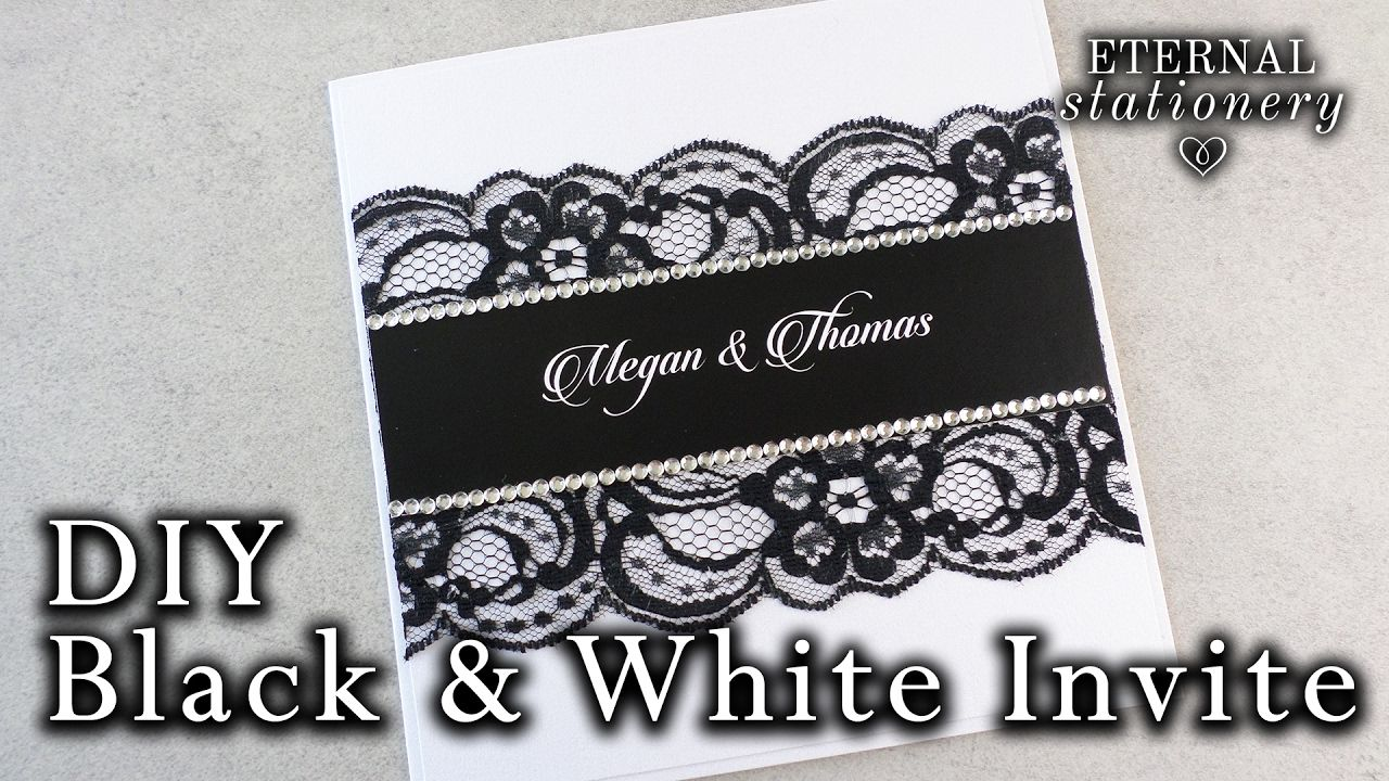 sister marriage invitation letter format%0A How to make an easy black and white invitation   DIY Wedding Invitation
