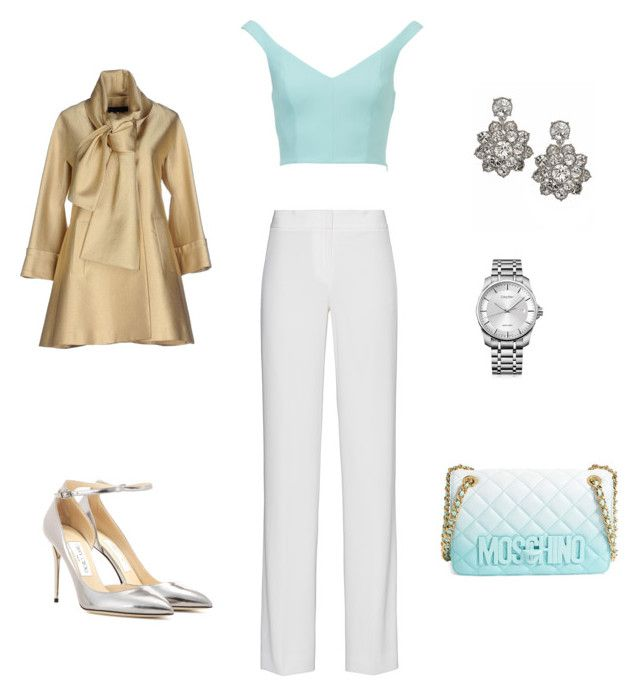 """""""Untitled #85"""" by eva-skok on Polyvore featuring Moschino, DKNY, Jimmy Choo, Calvin Klein, Givenchy and Elie Saab"""