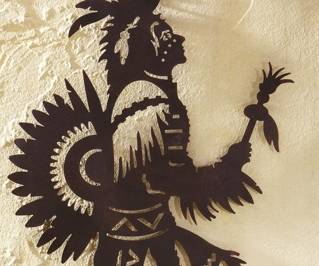 Native American Indian Chief Southwestern Metal Wall Art Sculpture ...