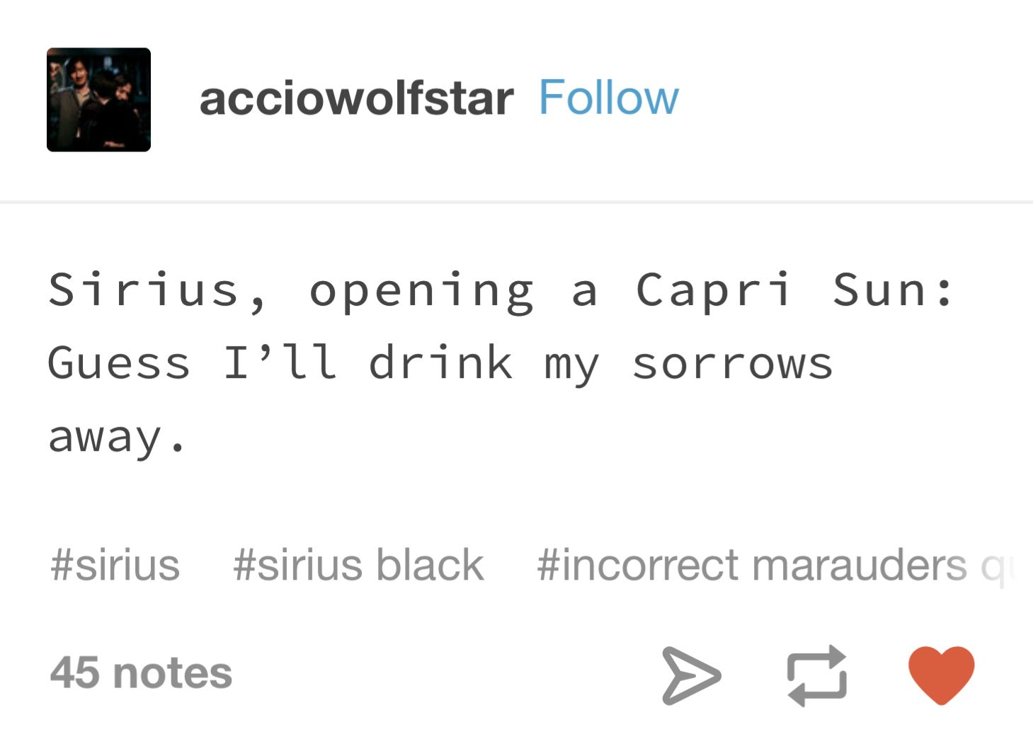 Sirius Black Incorrect Quotes Hogwarts Quotes Incorrect Quotes Harry Potter Tumblr