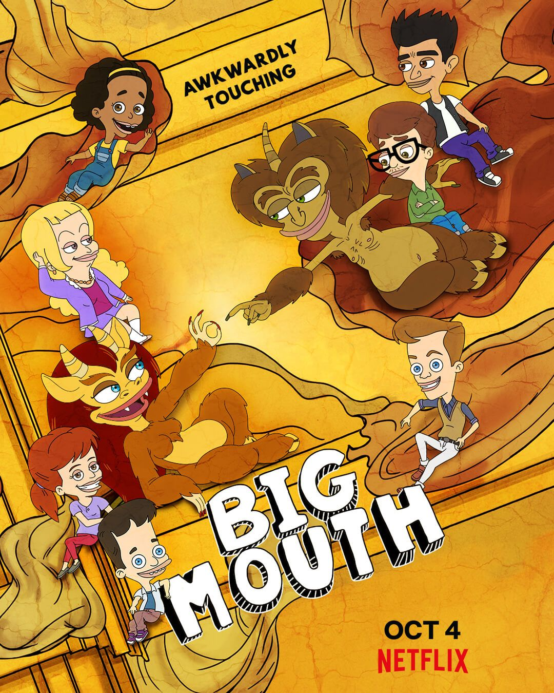 Big Mouth Season 3 Shows Off A New Poster And Trailer Big Mouth New Poster Mouth