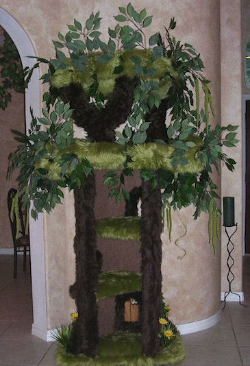 Enchanted Cat Tree From A Fantasy Forest Cat Tree