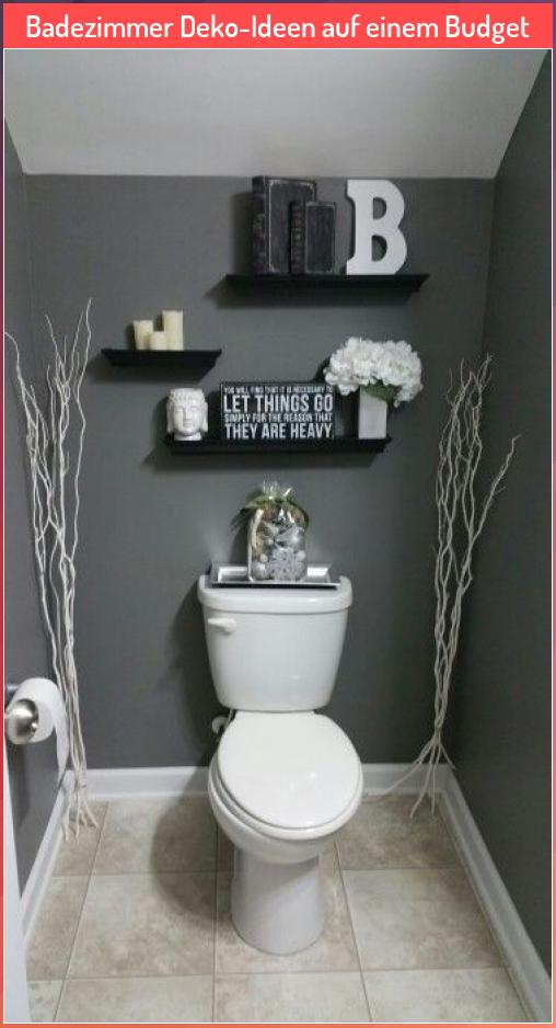 Badezimmer Deko Ideen Auf Einem Budget Auf Badezimmer Budget Dekoideen Einem Ideen In 2020 Kitchen And Bath Remodeling Bathroom Decor Small Bathroom Decor