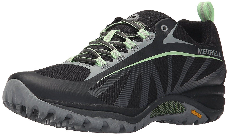 Siren Edge Waterproof - Zapatos de Low Rise Senderismo Mujer, Black/Paradise, 42 EU Merrell