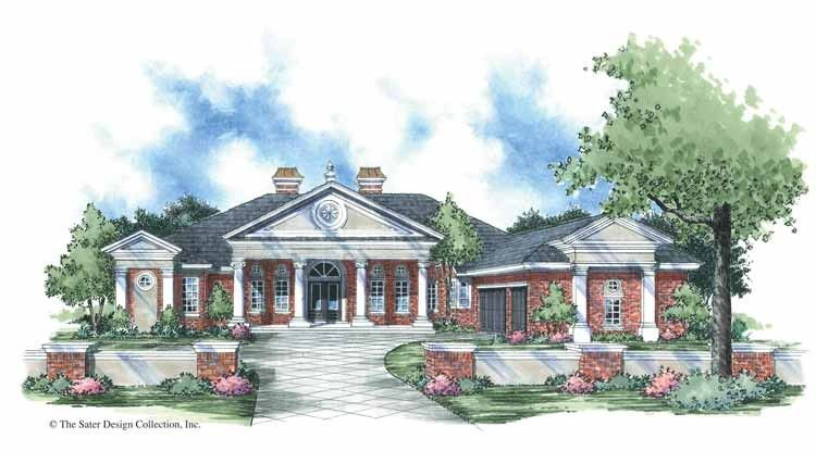 Greek Revival House Plan with 3764 Square Feet and 4 Bedrooms s     Greek Revival House Plan with 3764 Square Feet and 4 Bedrooms s  from Dream  Home Source   House Plan Code DHSW42398