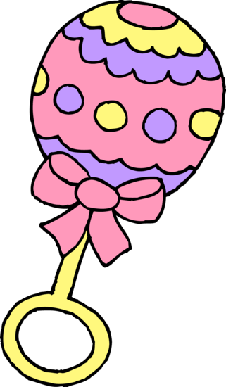 Pink Baby Girl Rattle Free Clip Art Baby Clip Art Free Clip Art Baby Girl Clipart