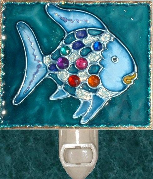 Stained Gl Under The Sea Rainbow Fish Night Light Plug In Wall Kids Ocean And Nursery Decor Art Baby Nightlight Hallway Lighting Things