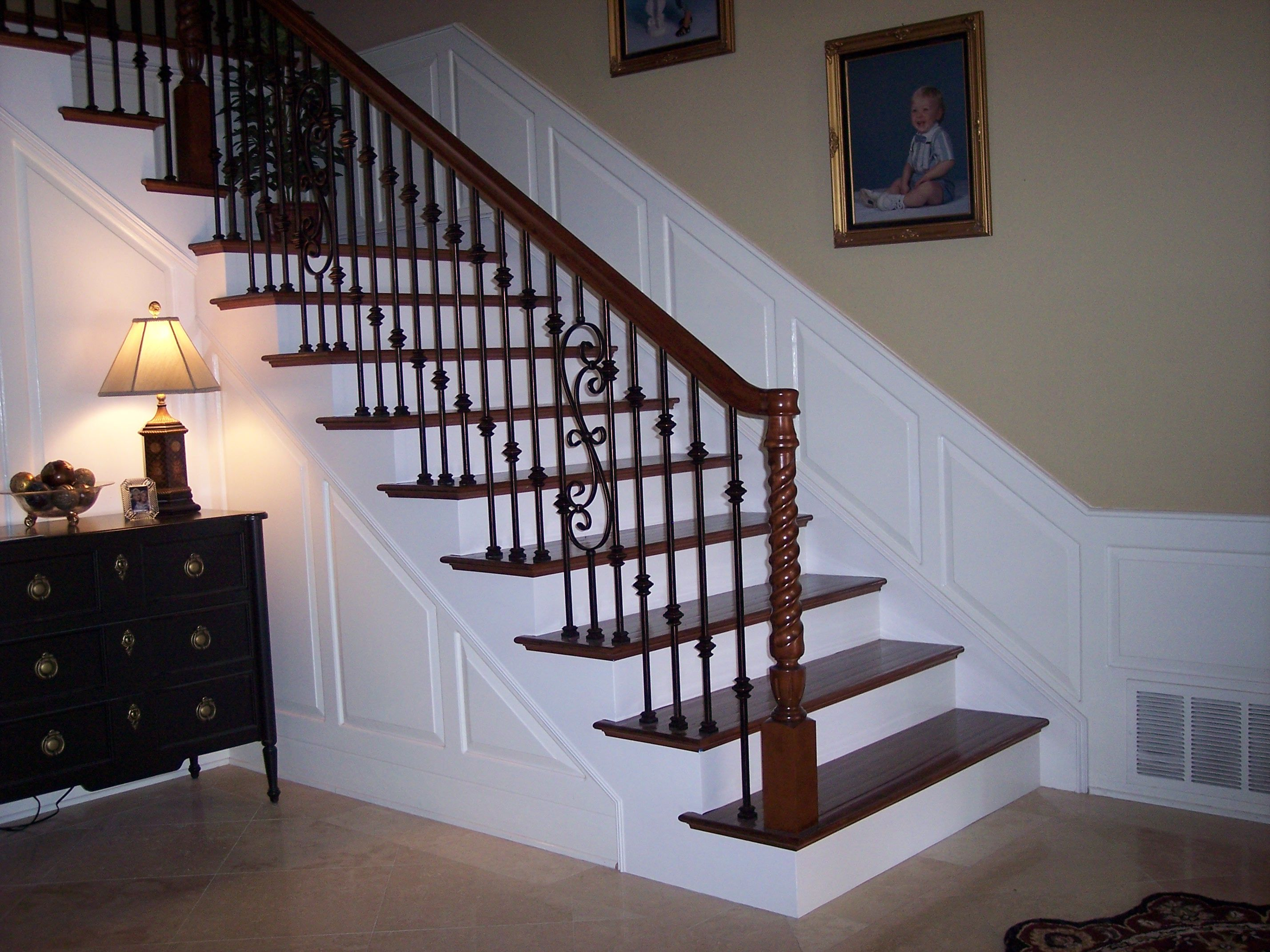 banister kits home outdoors interior kit handrail stair for depot indoor railing sale