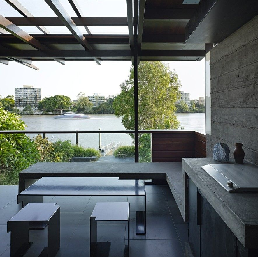 Pergola Designs Qld: Quante Setting For Dining, Extending Out To River Views