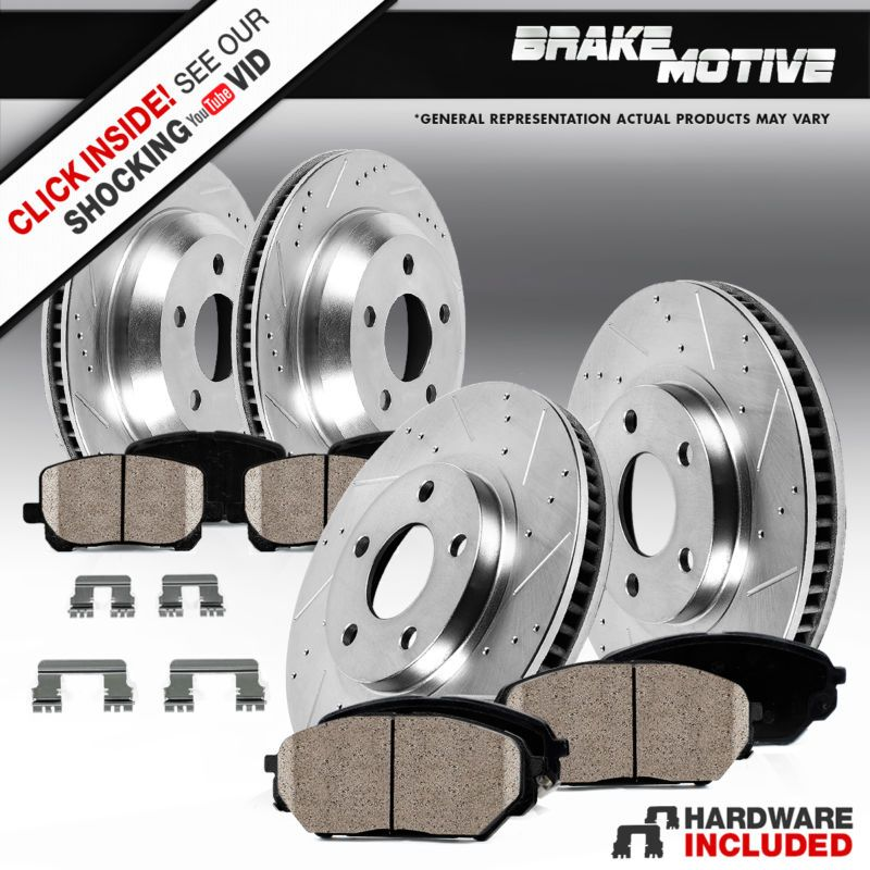 Front Brake Rotors Ceramic Pads For Chrysler Town /& Country 2008-2009 to 2016