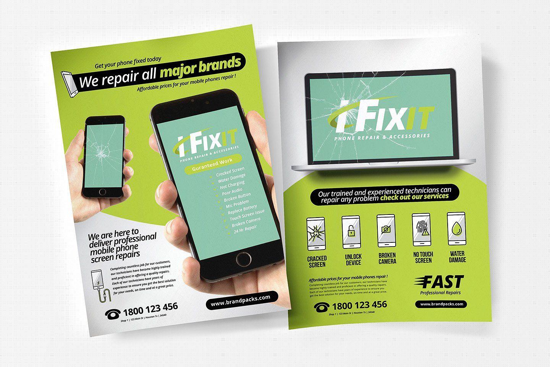 A4 Phone Repair Shop Poster Template Phone Repair Repair Flyer Template