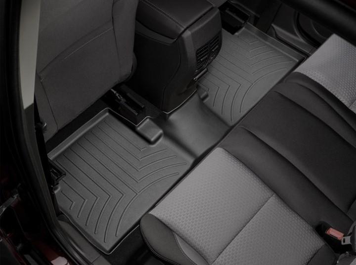 2005 2017 Toyota Tacoma Double Cab Weathertech Black Rear Floorliner Mats