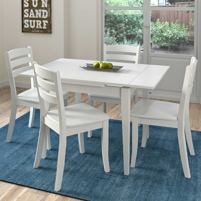 corliving dining table set white products wooden dining set rh pinterest co uk