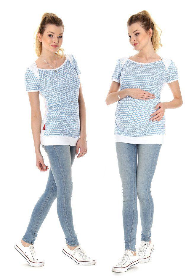 dieses verspielte shirt aus baumwolljersey lässt sich