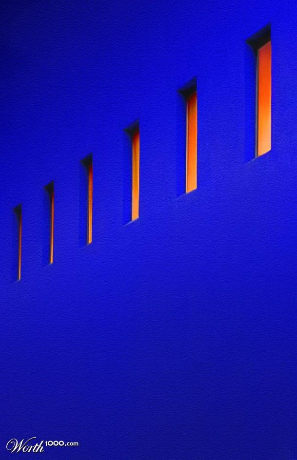 Cobalt And Orange Blue Walls Blue Orange Cobalt Blue