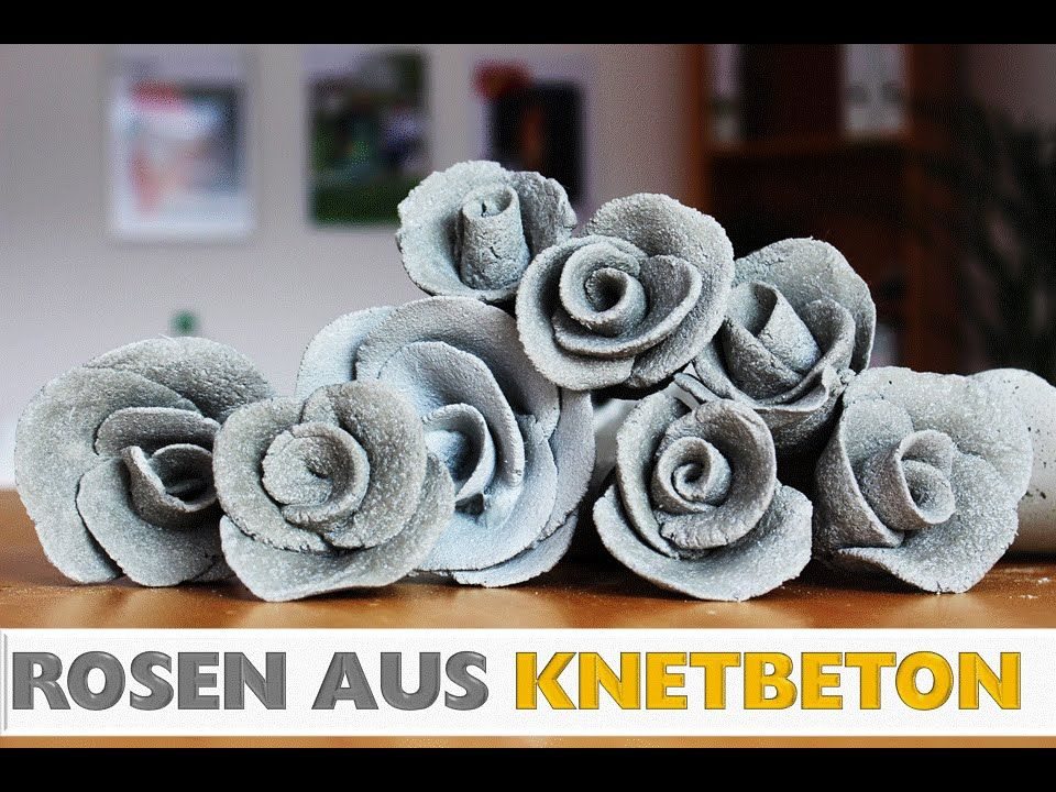diy deko rose aus knetbeton selber machen in 2 min. Black Bedroom Furniture Sets. Home Design Ideas