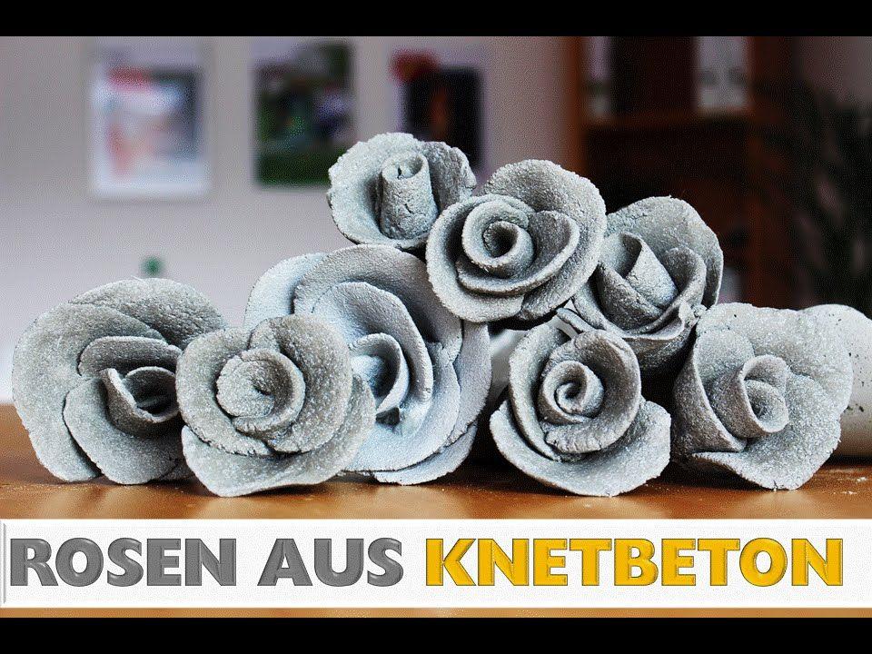 Diy Deko Rose Aus Knetbeton Selber Machen In 2 Min Cement