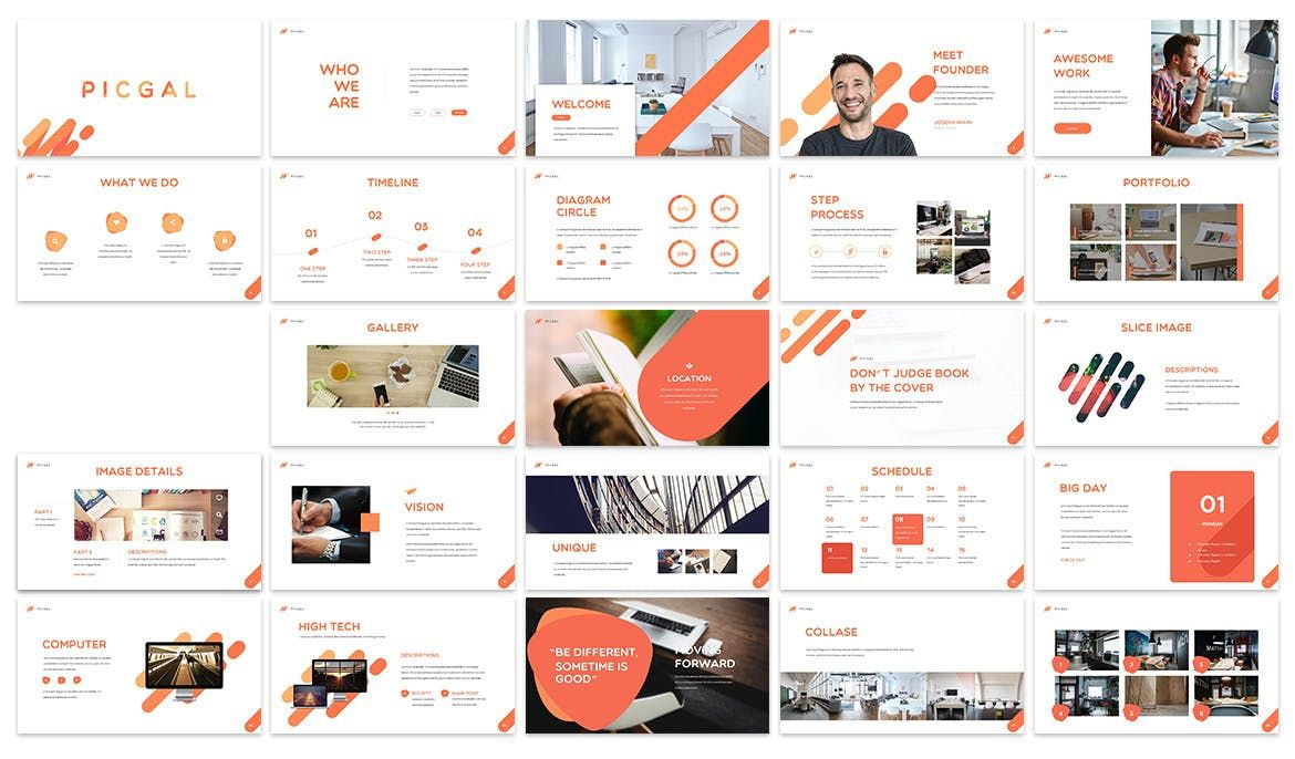 PICGAL Keynote Template by SlideFactory on Envato Elements