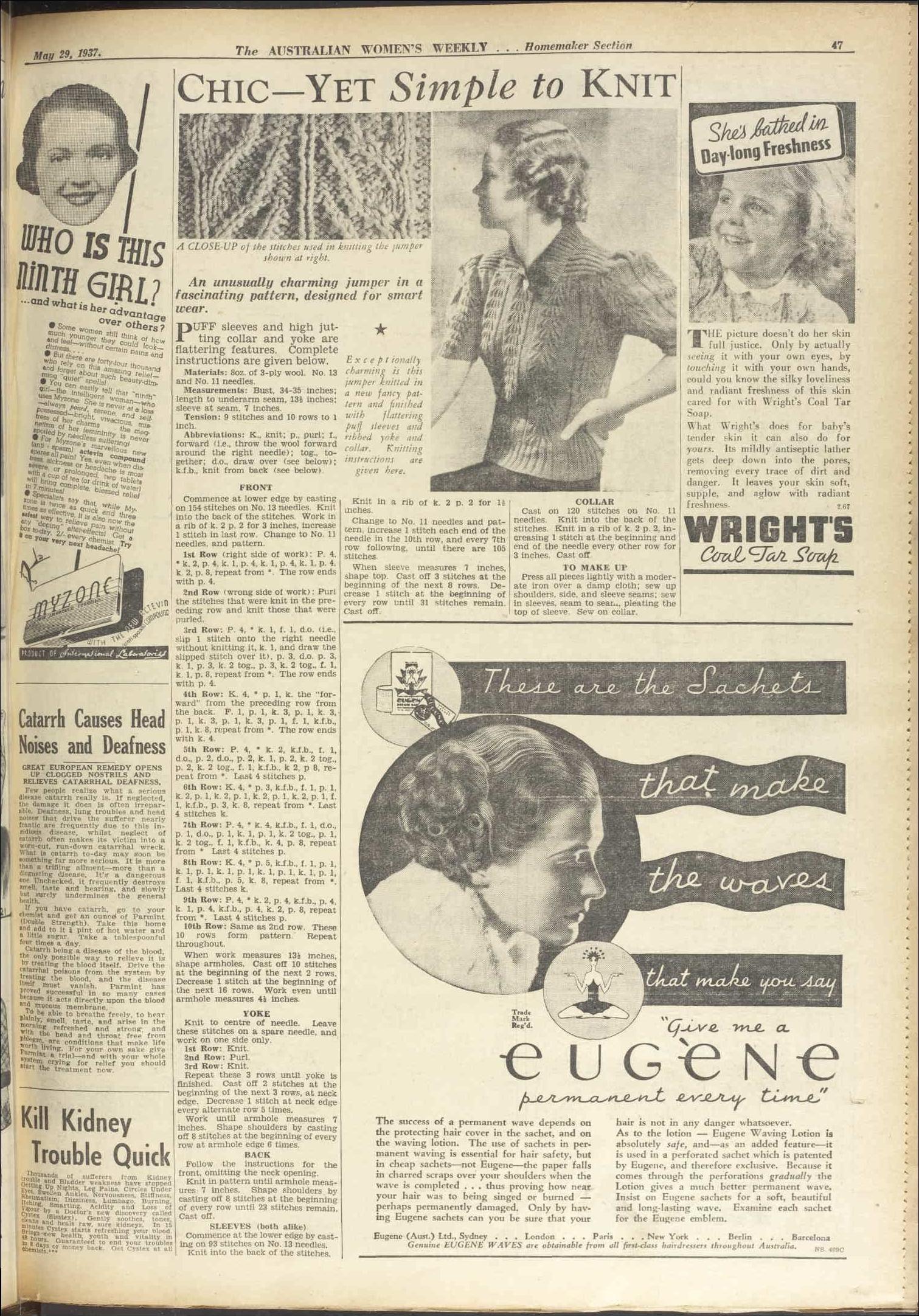 Issue: 29 May 1937 - The Australian Women\'s Wee... | Håndarbeid ...
