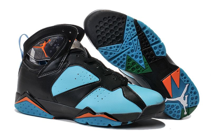 Buy Hot 2015 New Jordan 7 Black Turquoise Green Orange Basketball Shoes  from Reliable Hot 2015 New Jordan 7 Black Turquoise Green Orange Basketball  Shoes ...