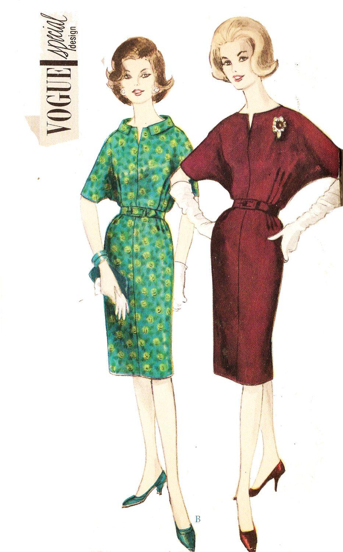 Vogue Special Design 4264 Misses\' Vintage 1960s Batwing Sleeve ...
