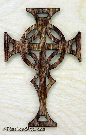 Celtic Cross Handmade Baltic Birch Wood For Wall Hanging Ornament Item S3