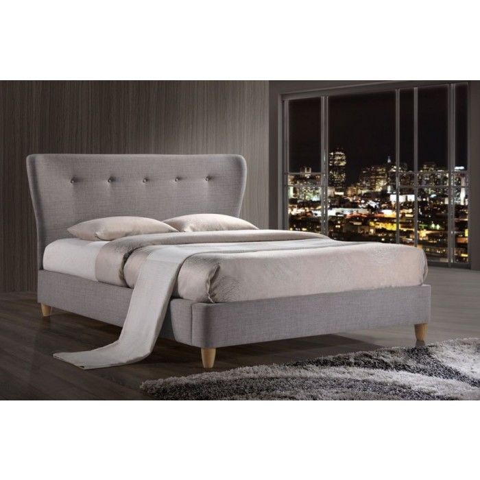 Percy Fabric Upholstered Sleigh Bed - Luxury Leather Beds - Beds.co ...