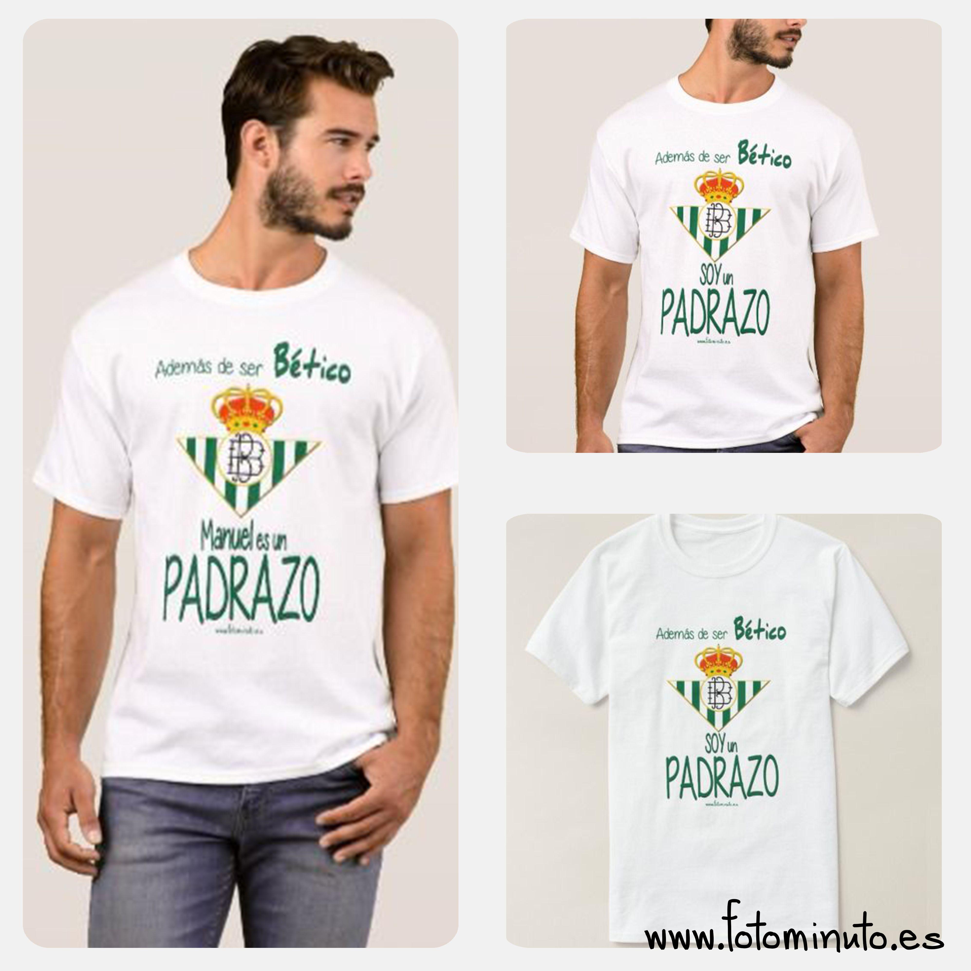 619df7c72 Camisetas Personalizada Real Betis para el Padre | Las Camisetas de ...