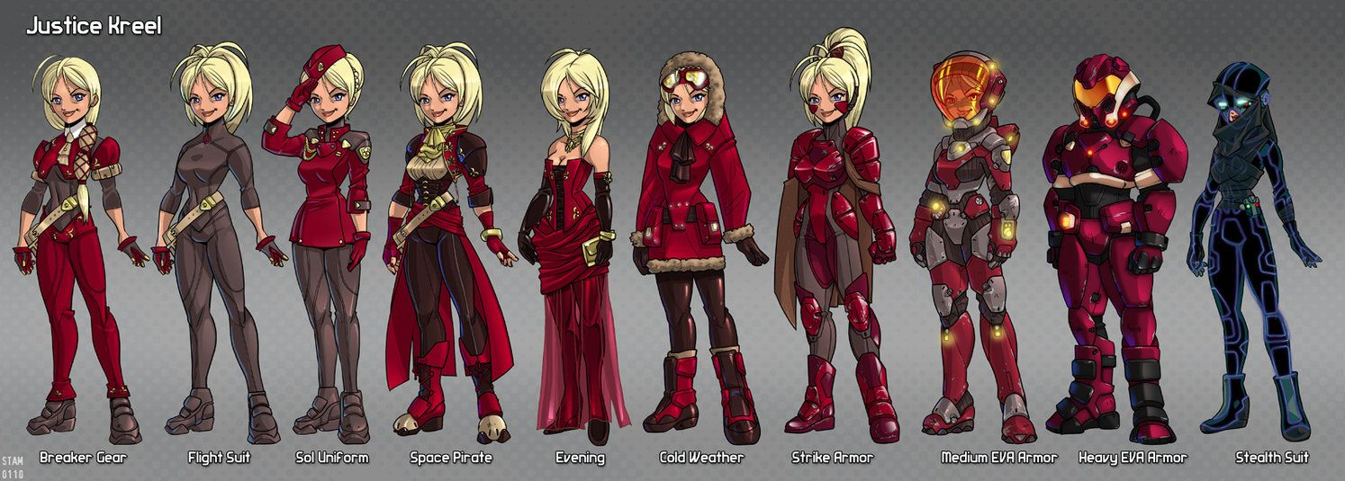 A Fistfull Of Justice Game Costumes Justice Costume Design