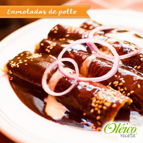 """ENMOLADAS DE POLLO"" #Receta #Cocinamexicana | Enmoladas ..."