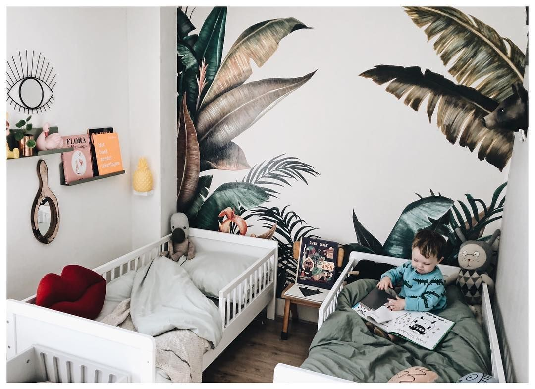 Tropical Wallpaper In The Kids Room By Carlijnq Tropical