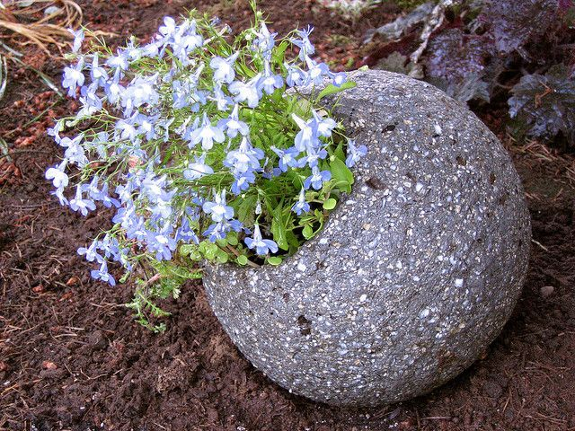 Simple For my ball I used a mixture of equal parts Portland cement perlite vermiculite and peat It was formed over a cheap toy ball