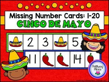 Missing Number Cards: Cinco de Mayo (Numbers 1-20) ($)