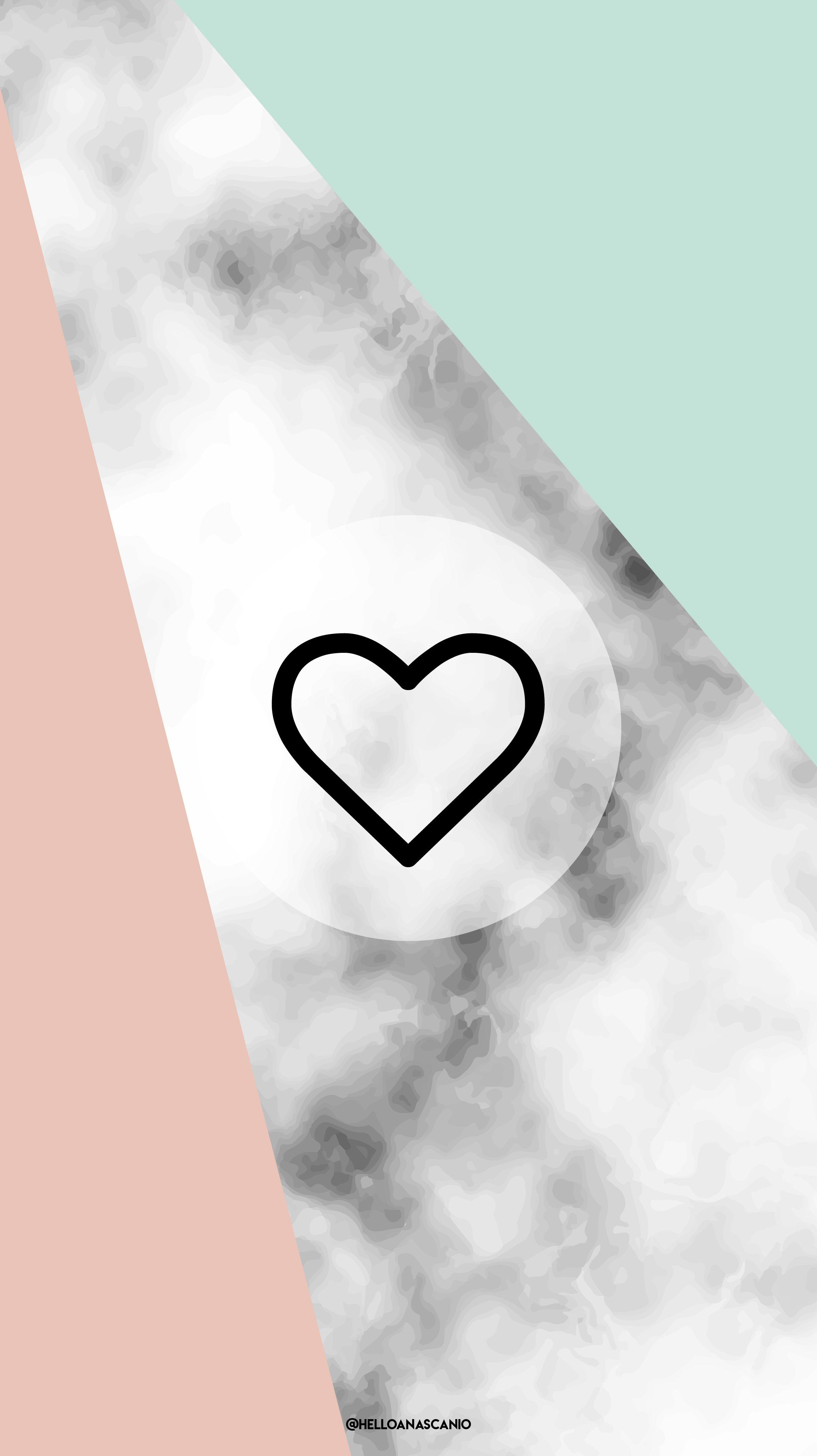 Instagram Highlight Covers Icons Heart Marble Fondos De Pantalla