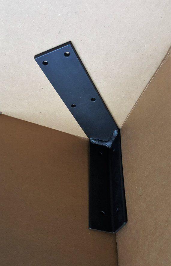 One Corner Bracket For 5 12 Industrial Heavy Etsy In 2020 Metal Metal Furniture Shelf Brackets