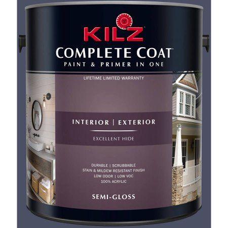 Kilz Complete Coat Interior/Exterior Paint & Primer in One #RB100-01 on exterior ceramic tile, concrete flat paint, exterior flat varnish, interior flat paint, semi-gloss vs flat paint, exterior flat roof, exterior flat design, exterior soffit, home flat paint, outdoor flat paint,