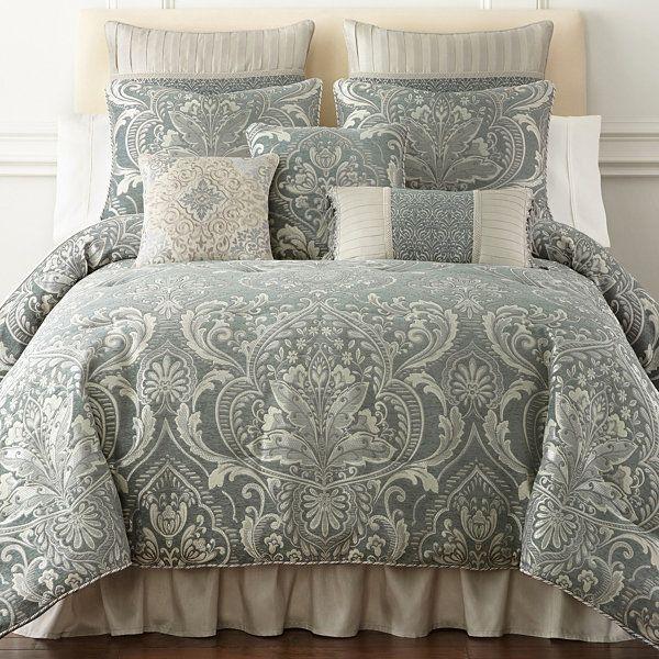 Jcpenney Croscill Vincent Slate Blue Bedding Sets Master Bedroom