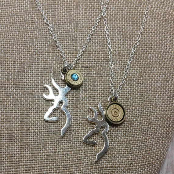 His And Her Buck Mark Necklace Set With By