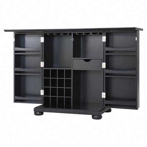 Alexandria Expandable Bar Cabinet - Black in 2018 Cheap Furniture - Cheap Black Furniture