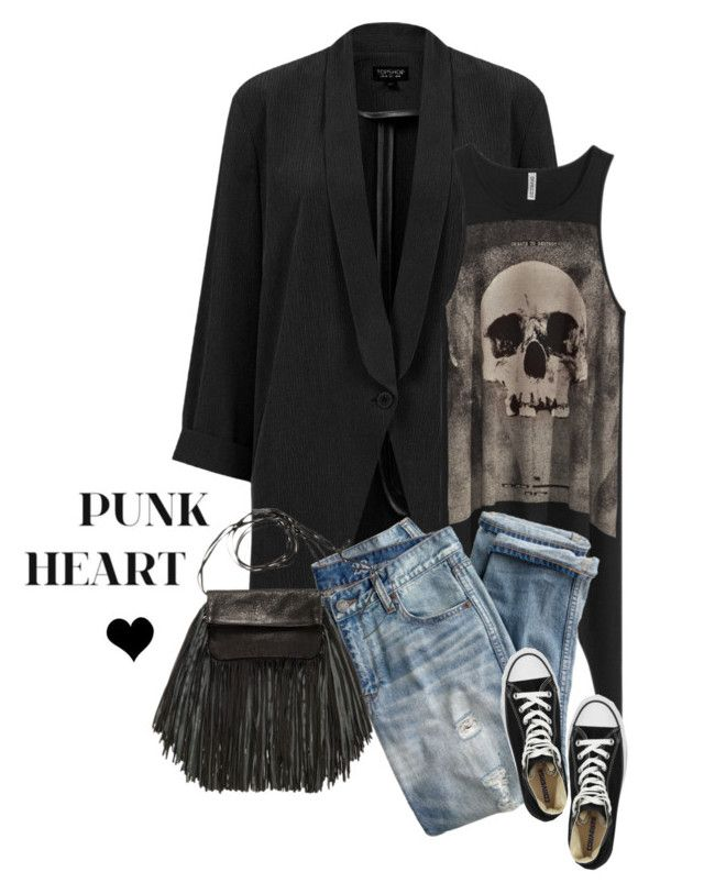 """""""Saturday"""" by elske88 ❤ liked on Polyvore featuring Topshop, H&M, J.Crew, Converse, Barbara Boner and ootd"""