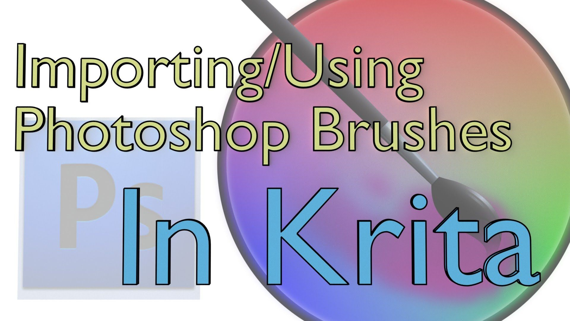 Creating Custom Brushes with Imported Photoshop Brushes in Krita
